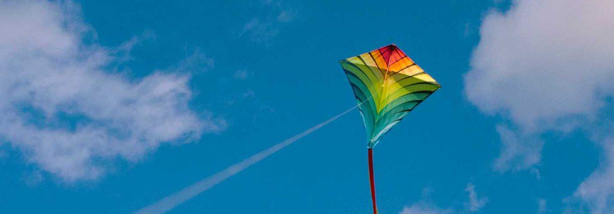 kite in a blue sky